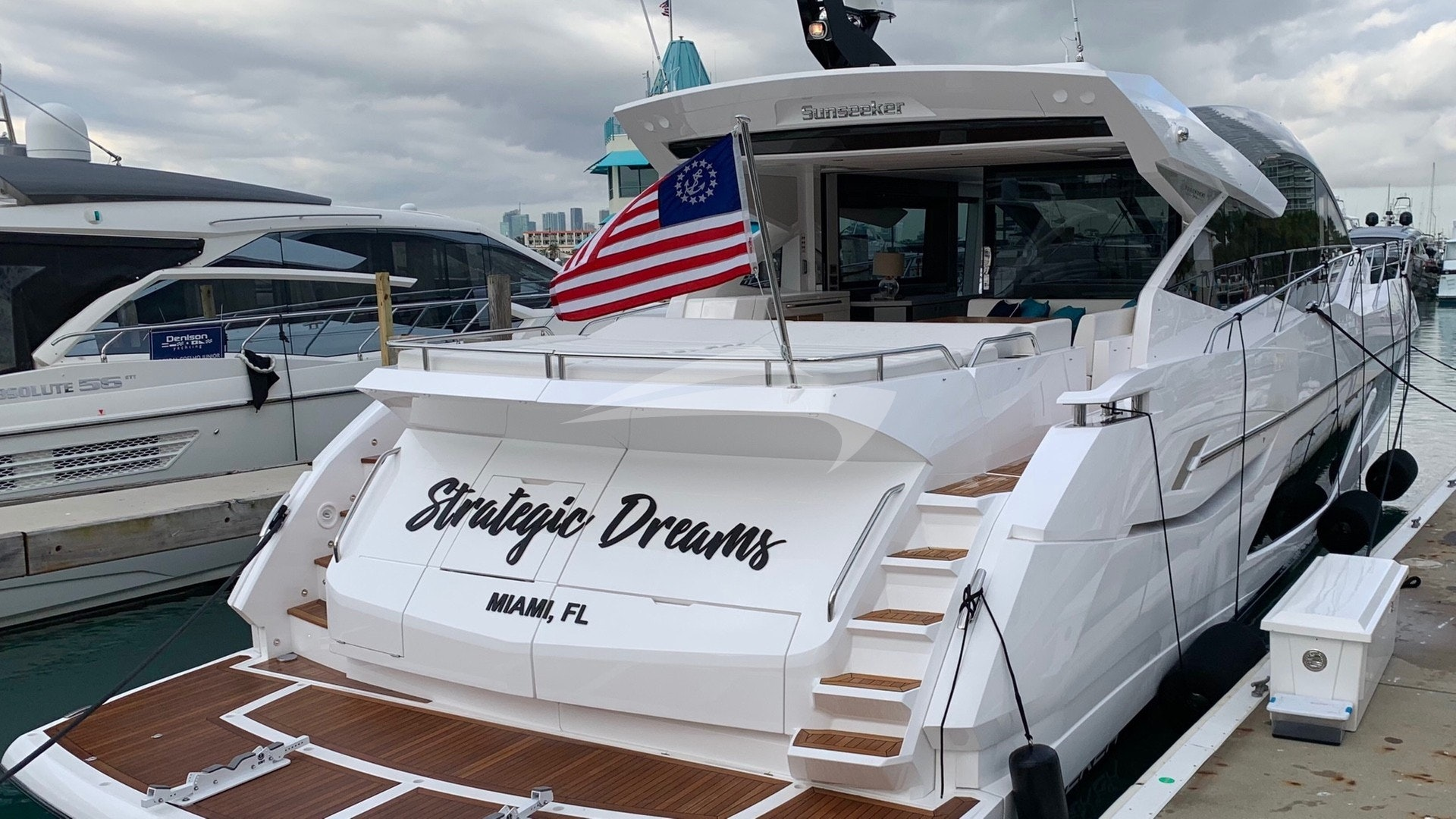 Strategic dreams aft deck/swim platform
