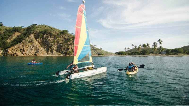 Cuan Law has a full compliment of water sports ge