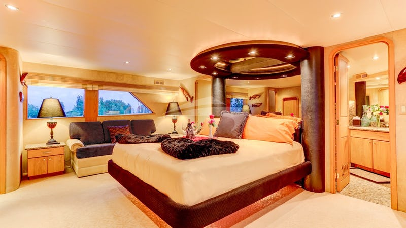 Master Suite on Main Deck with his & her toilet
