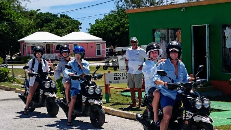 Island scooter fun !!