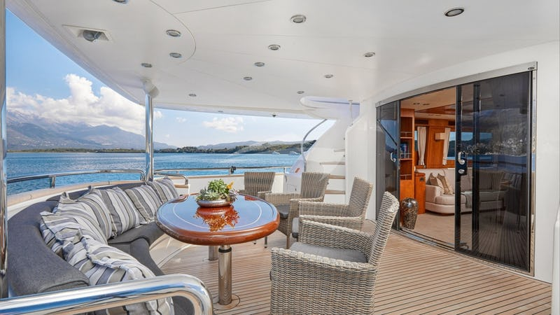 ANNABEL II :: main aft deck dining