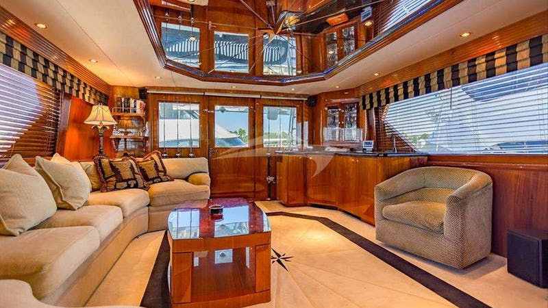 The saloon looking aft