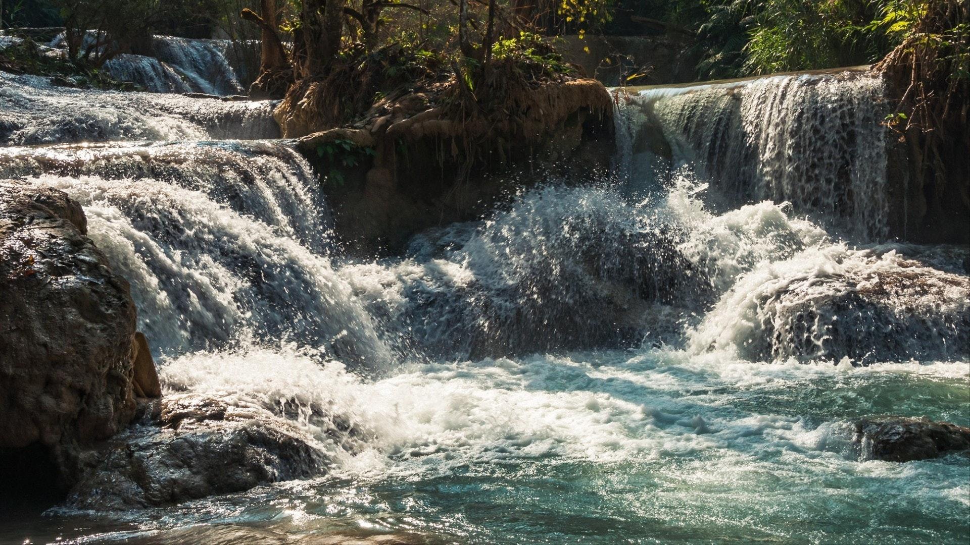 Kuang Si Falls near Luang Prabang, Laos, South East Asia