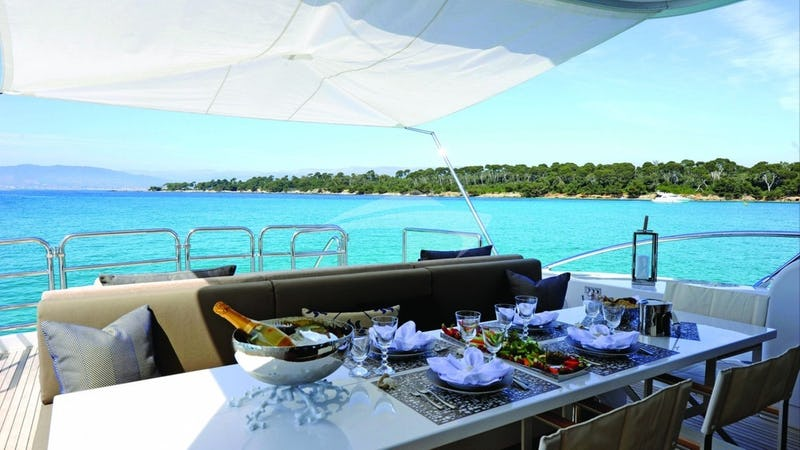 PHOENICIAN :: Aft Deck Dining