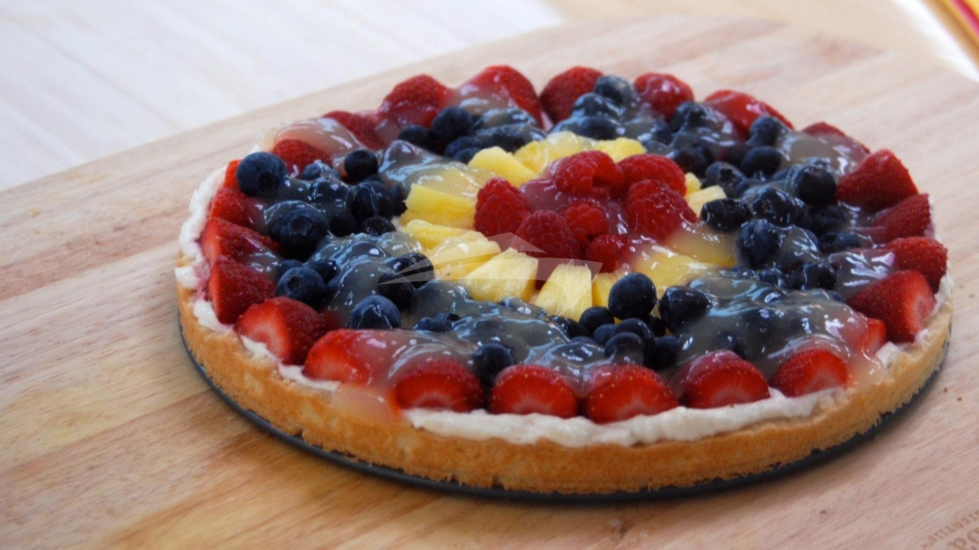 Fresh baked fruit tart