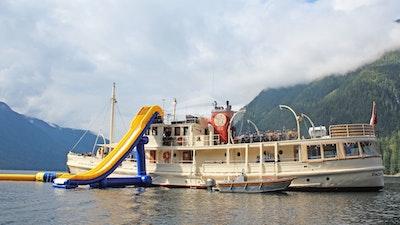 Slide and floating island