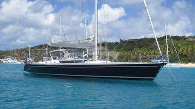Cap II - a stunning yacht in a gorgeous anchorage
