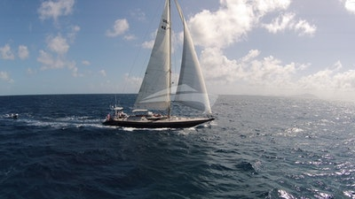 A real beauty under sail
