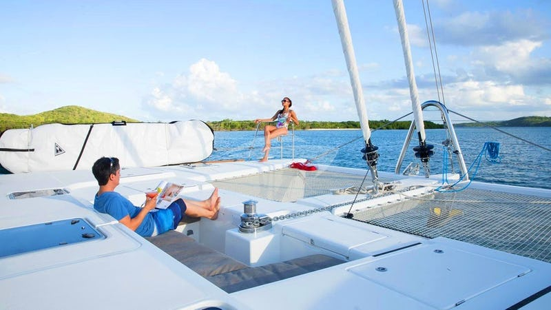 Lounge on the spacious foredeck