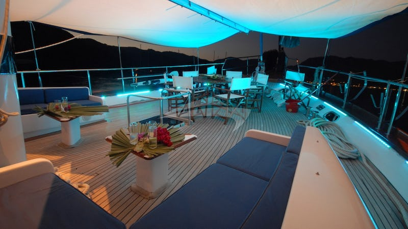 RIGEL :: Aft Deck at Night