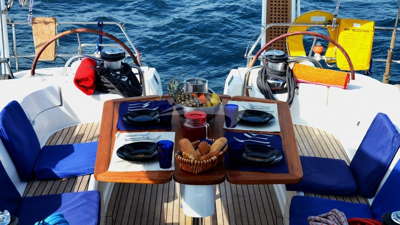MALENA :: Aft Deck Dining