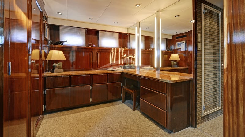 Dressing Room Office off of Master Stateroom