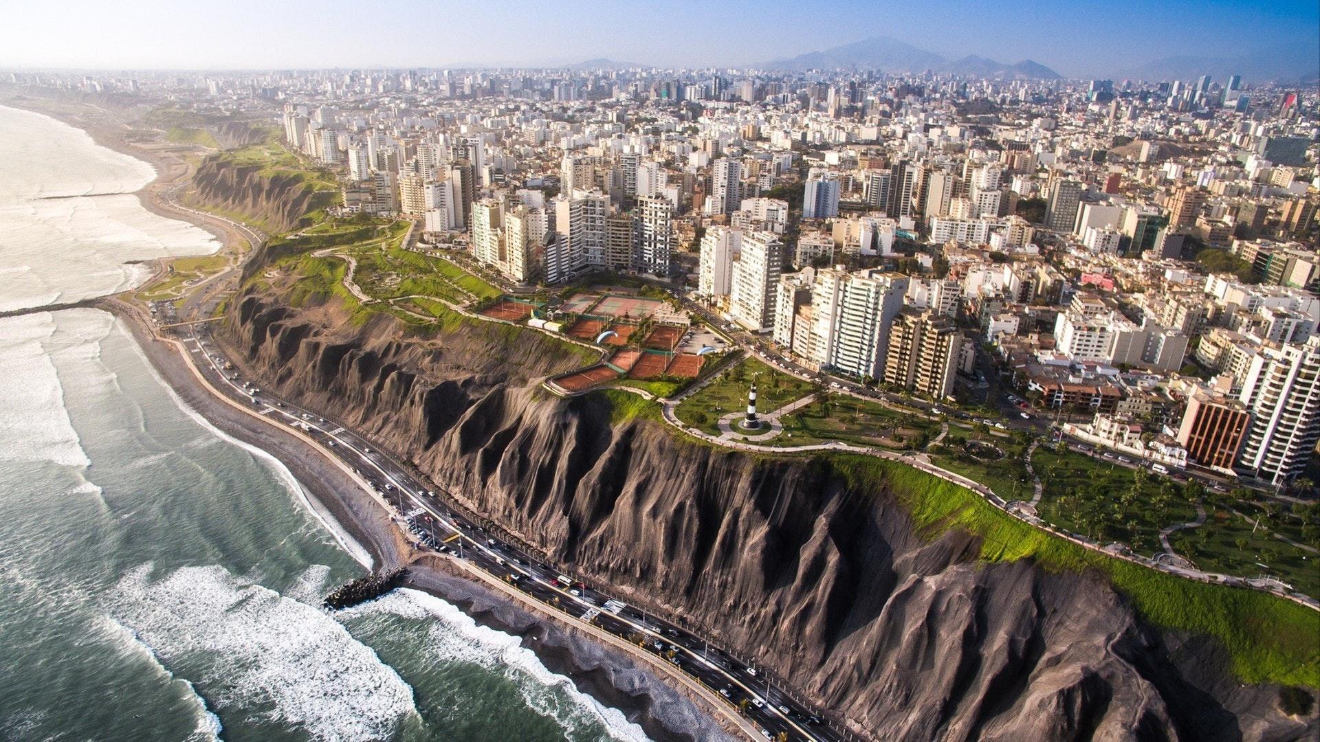 Panoramablick auf Lima von Miraflores