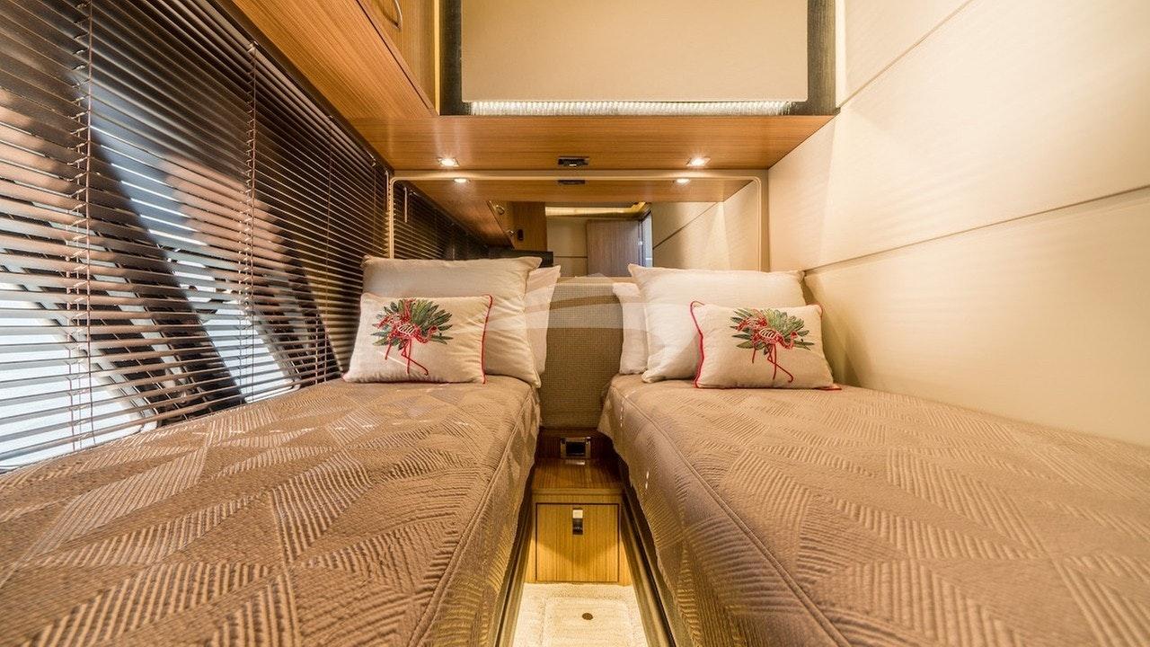 Gäste-Kabine mit zwei Einzelbetten