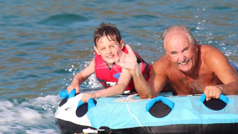 Tubing time with Grandad!