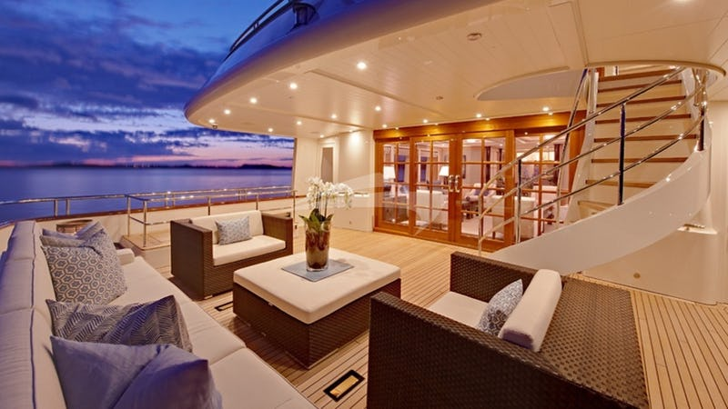 Aft Deck at Sunset