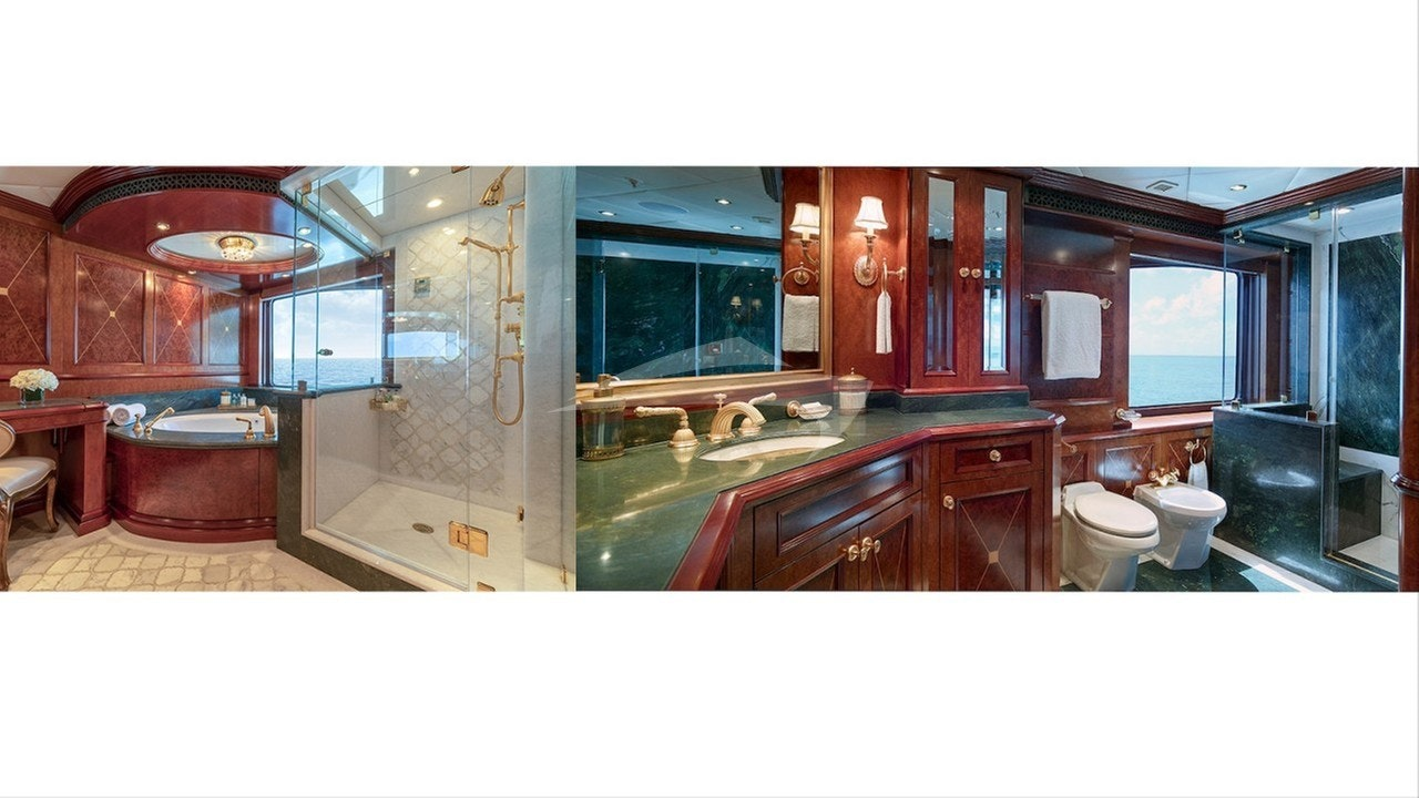 Owner's stateroom - his / her bathrooms