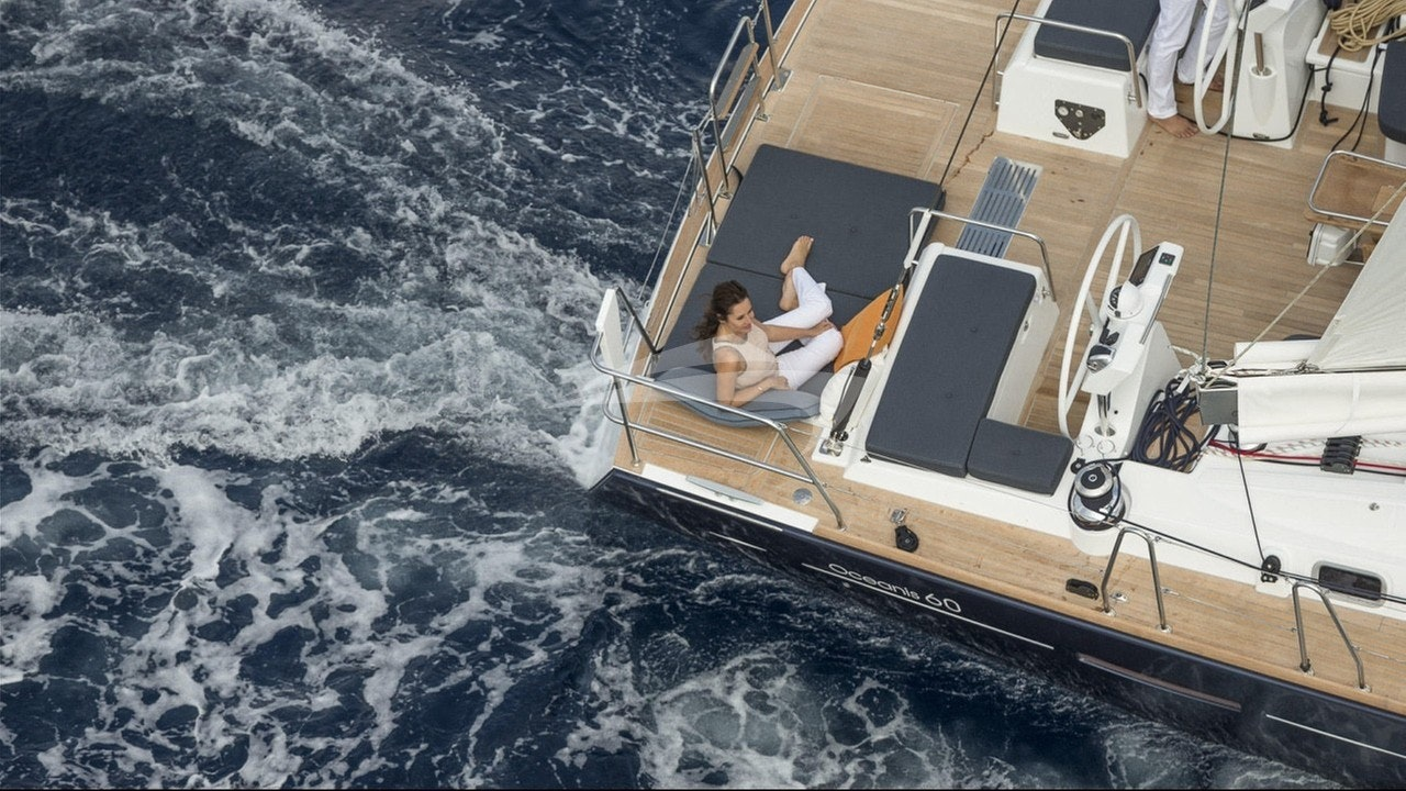 Lounging on the stern