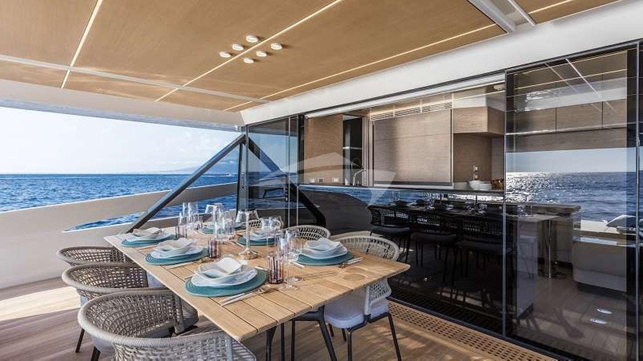 Comedor en cubierta