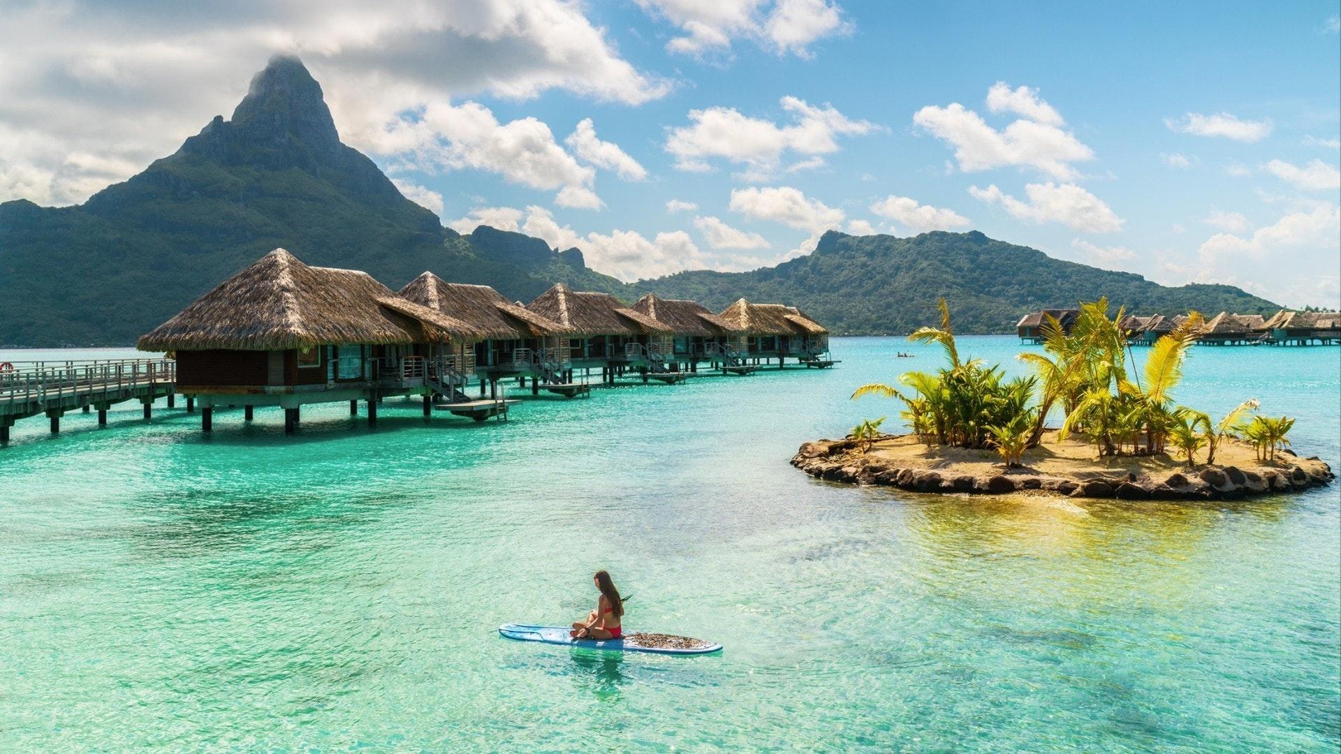 フランス領ポリネシア、ボラボラのタヒチ高級リゾートホテル