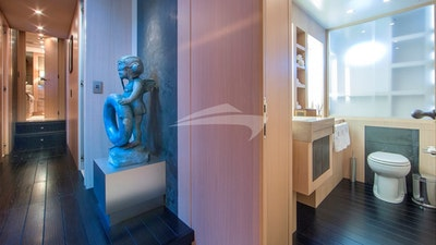 Corridor and bathroom