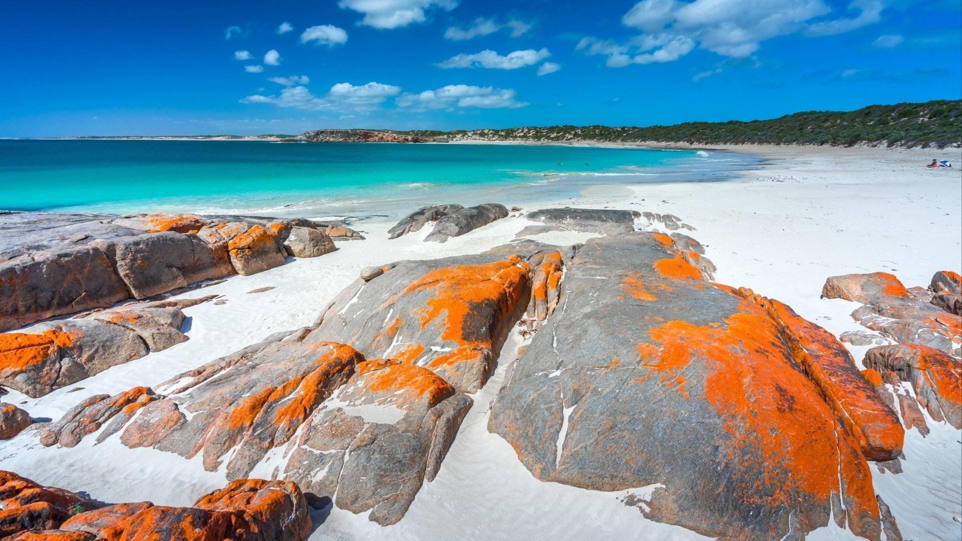 Dolphin Bay na Península de Yorke, Austrália Meridional