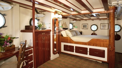 Master Stateroom with Queen Bed on Main Deck.