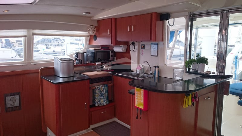 The Magic Galley aboard Island Time