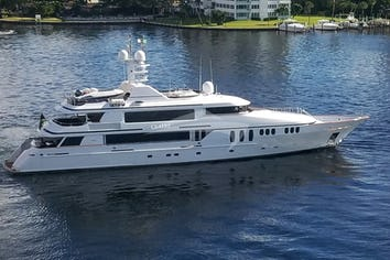 Luxury charter yacht CLAIRE