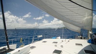 Top Deck sailing on Cuan Law