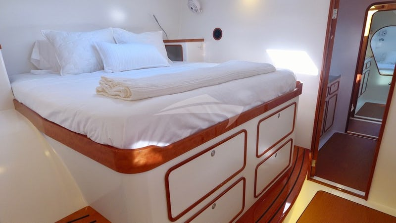 SKYLARK :: One of the master forward queen-berth guest suites
