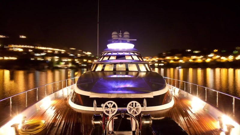 AZZURRA II :: Fore Deck At Night