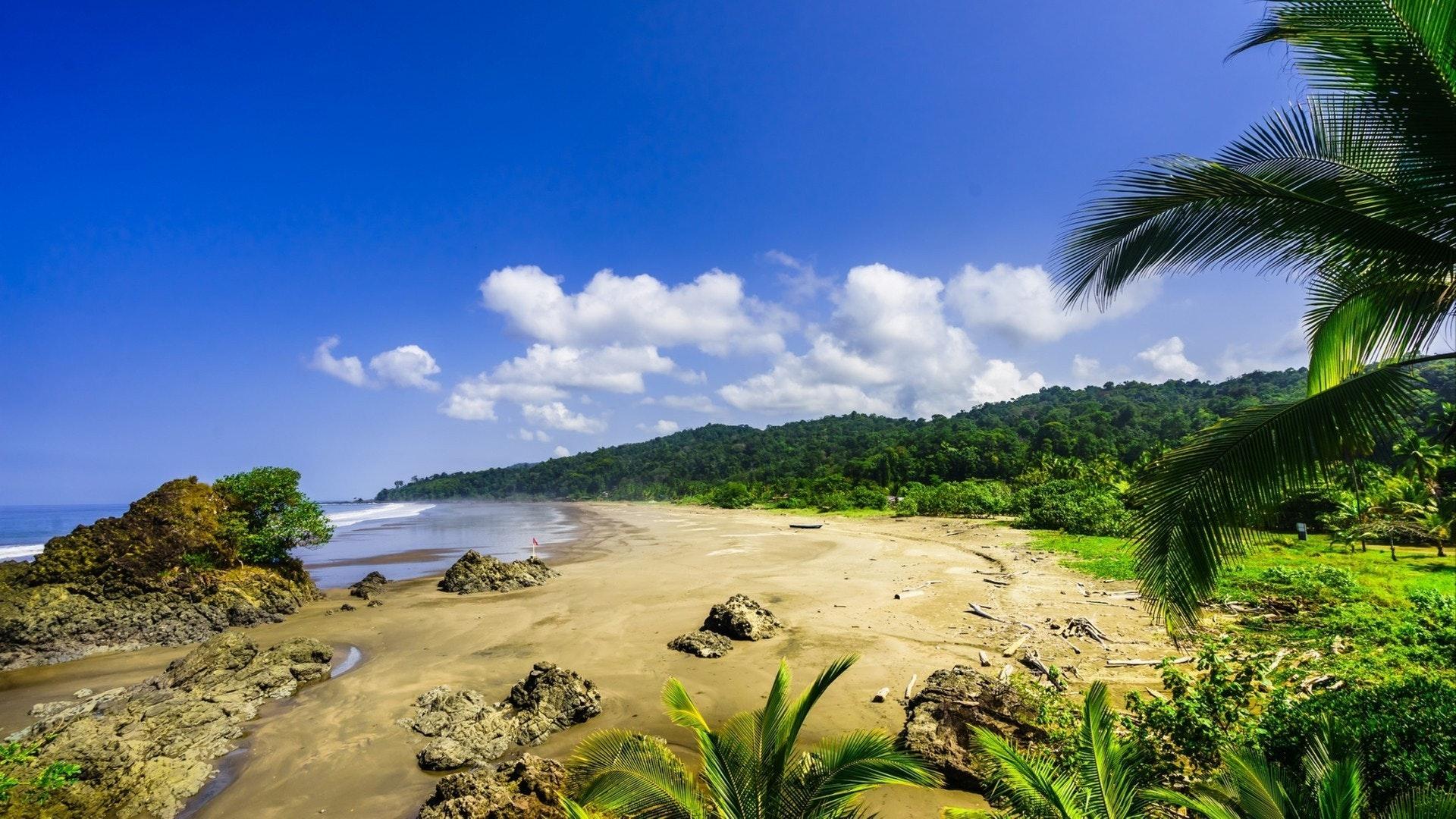 热带海滩 Almejal 在太平洋海岸旁边的 El Valle 在乔科地区的哥伦比亚