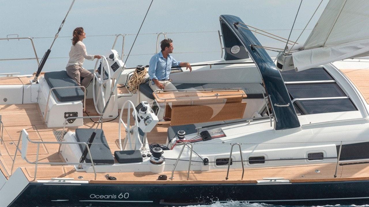 Spacious sailing cockpit