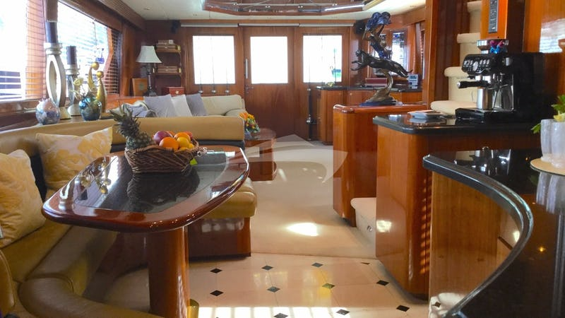 Looking aft in the saloon