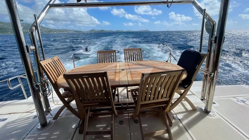 VYVO :: Aft deck seating and dining.