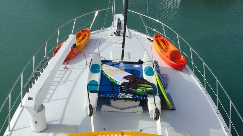 ONE NET :: Water sports gear on the bow