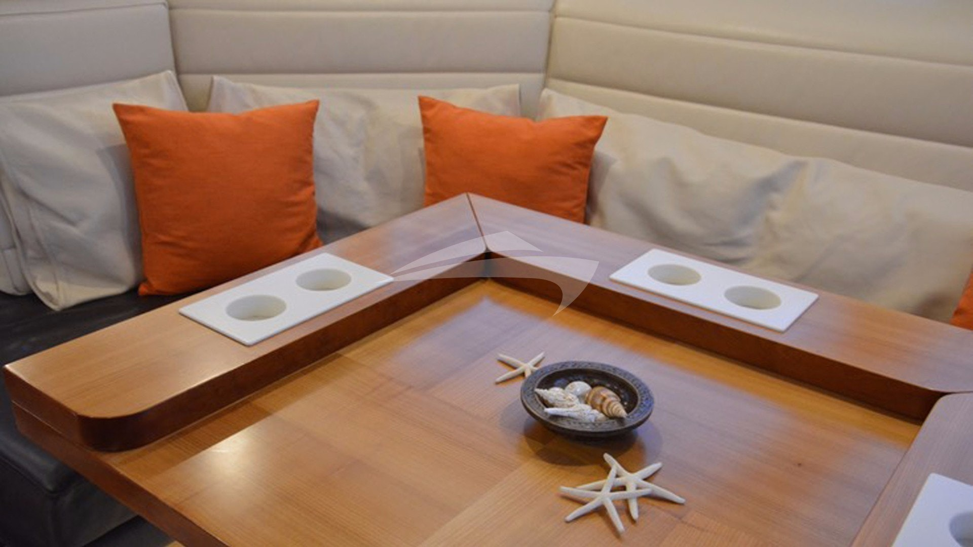 Mesa de salón de teca, se pliega para comer
