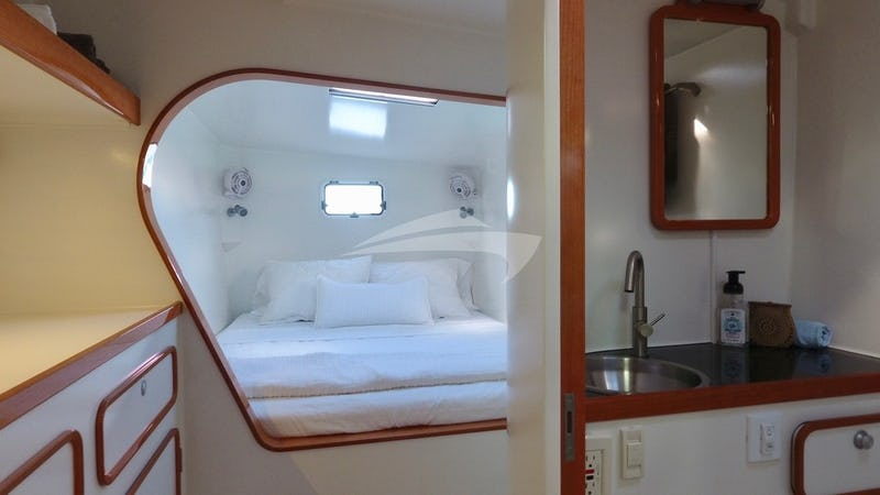 Aft queen-berth guest suite
