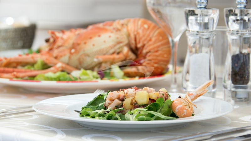 Lobster & prawn and octopus salad