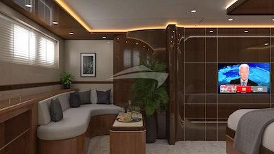 Master cabin's sofa
