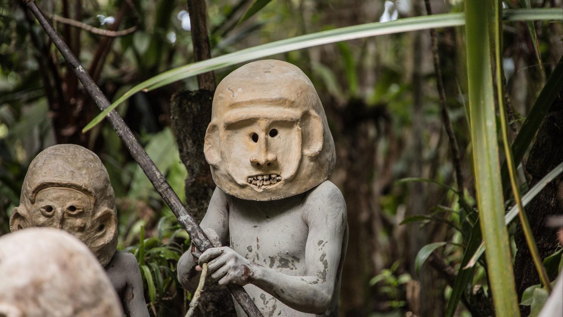 Mudmen de Papouasie-Nouvelle-Guinée