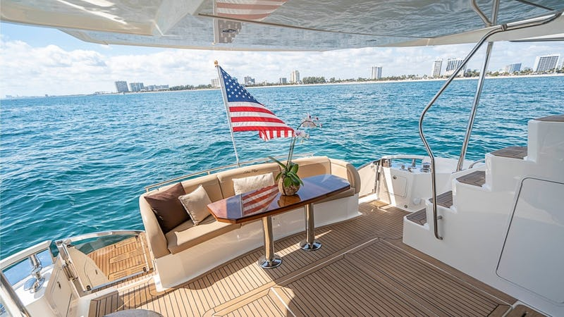 Great aft deck